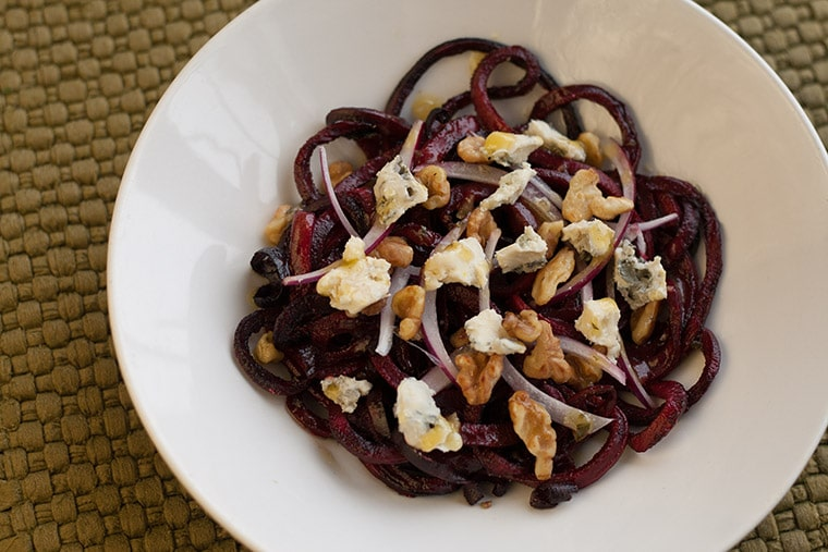 Roasted Beet, Walnut and Gorgonzola Salad