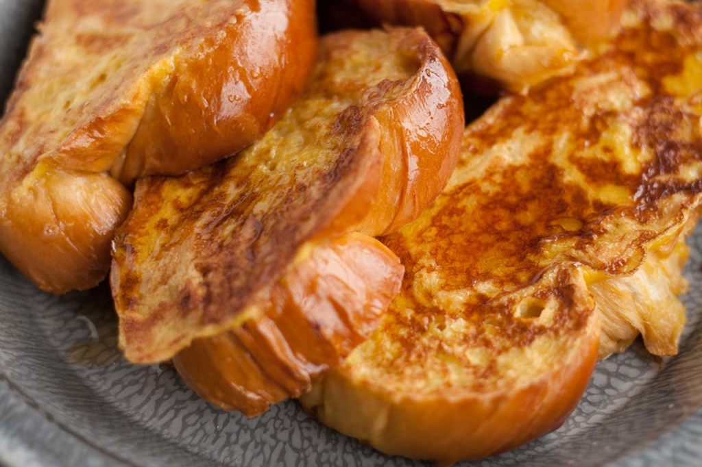 Fast and Fluffy Challah French Toast closeup