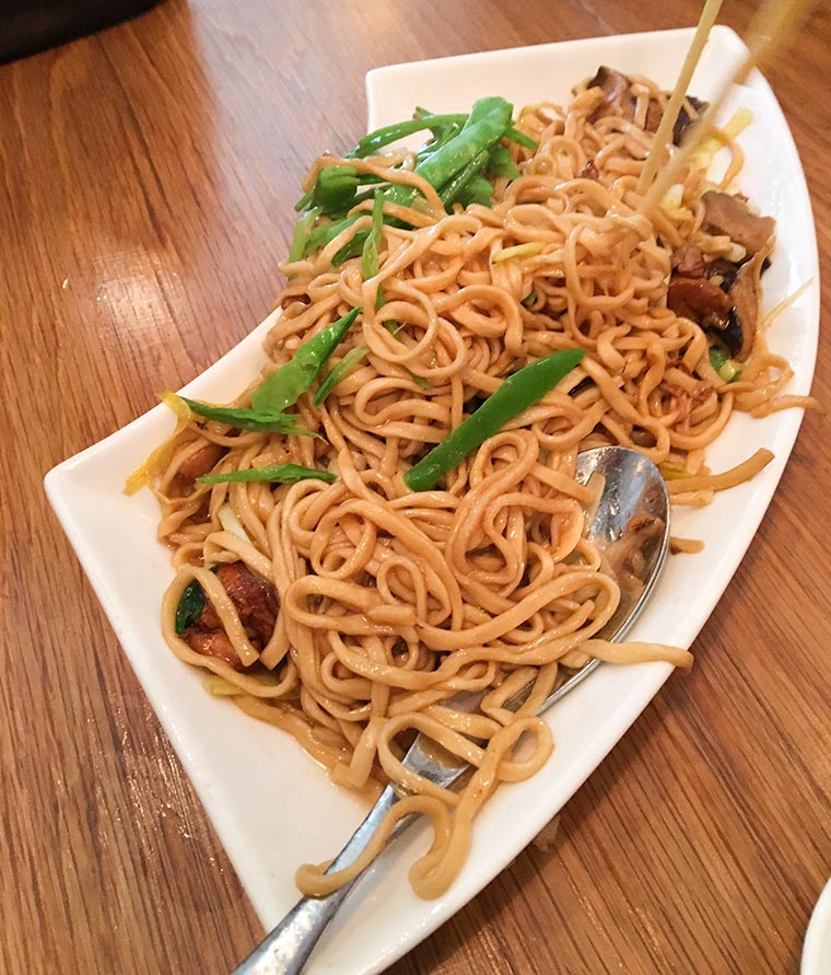Long Life Noodles with Mushrooms - Dim Sum at RedFarm Restaurant Upper West Side New York