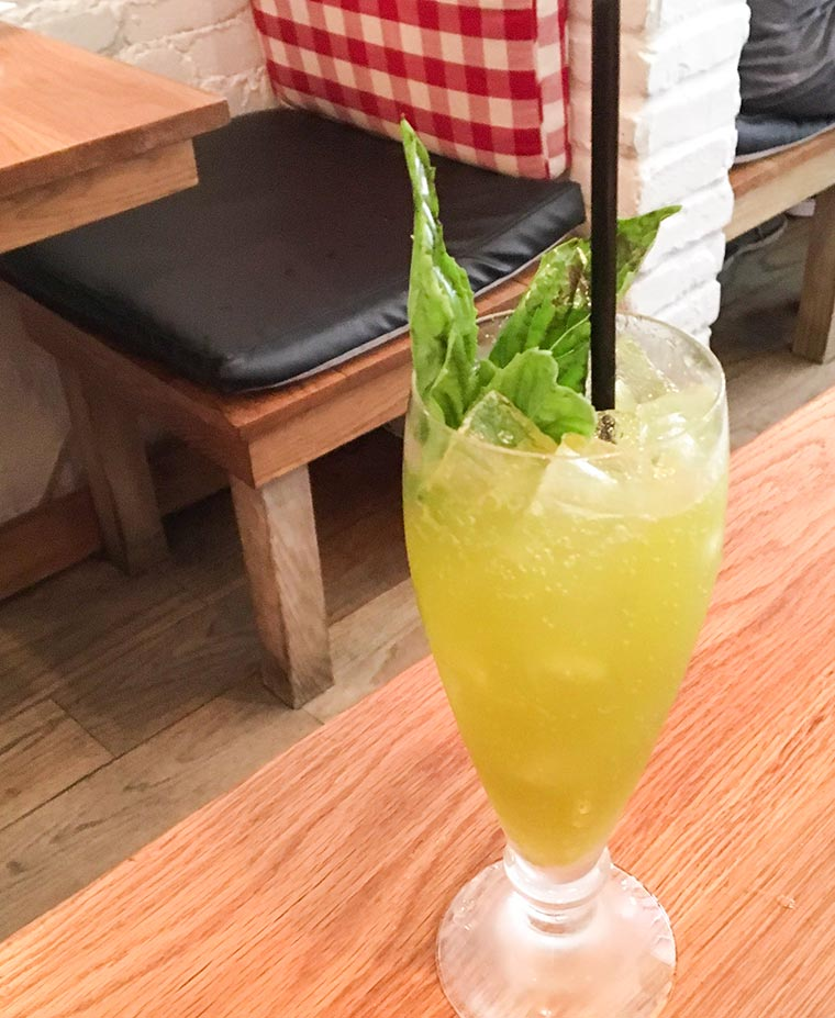 Thai Basil Lemonade - Dim Sum at RedFarm Restaurant, Upper West Side