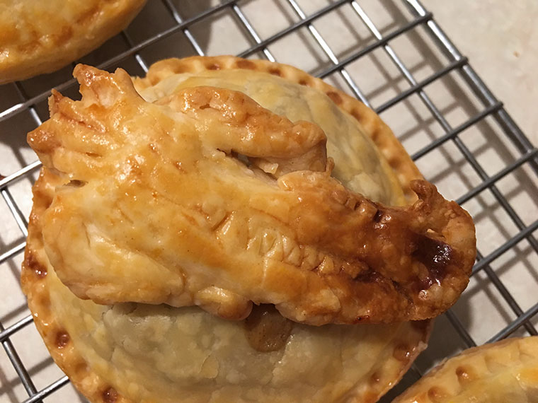 Chicken and Spring Vegetable Hand Pies - perfect food for your Game of Thrones viewing party
