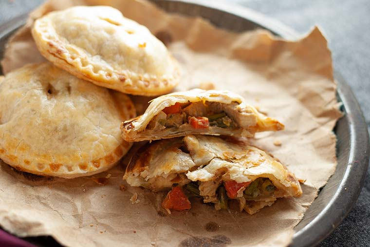 Chicken and Spring Vegetable Hand Pies