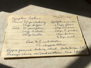 Pumpkin Cookies. From Home Extension letter, 1965.