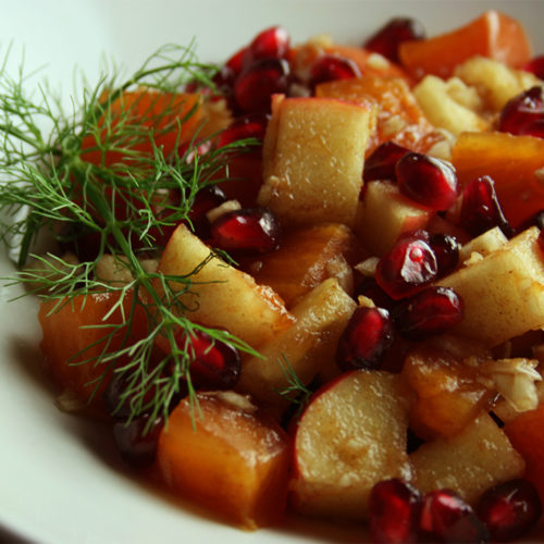 Spiced Persimmon-Pomegranate Salad