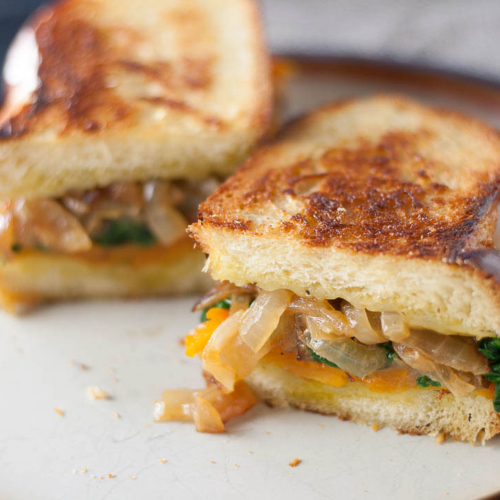 Sage Derby butternut squash grilled cheese