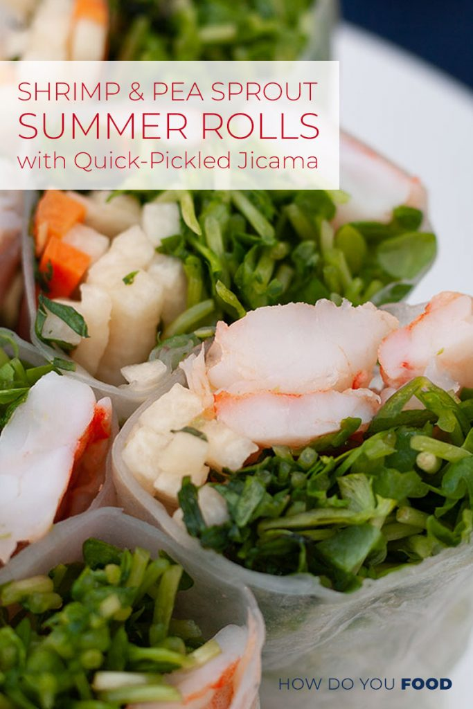 Shrimp and Pea Sprout Summer Rolls
