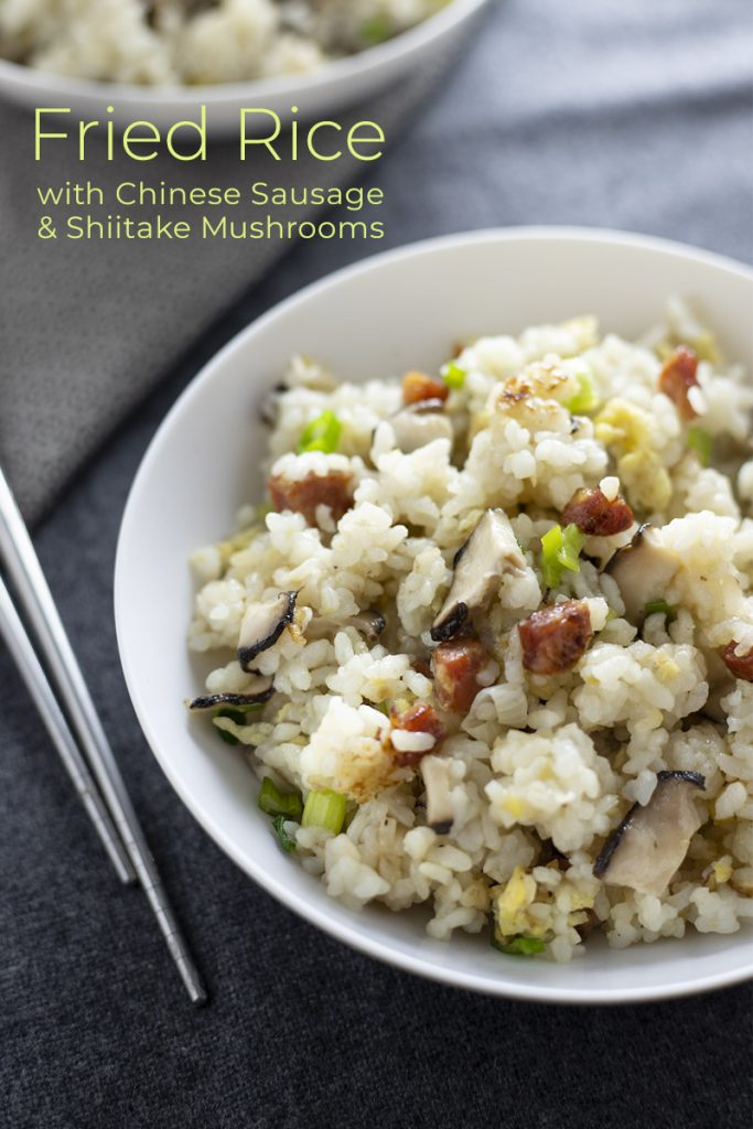 Fried Rice with Chinese Sausage and Shiitake Mushrooms