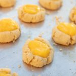 Macadamia Thumbprint Cookies with Passionfruit Curd