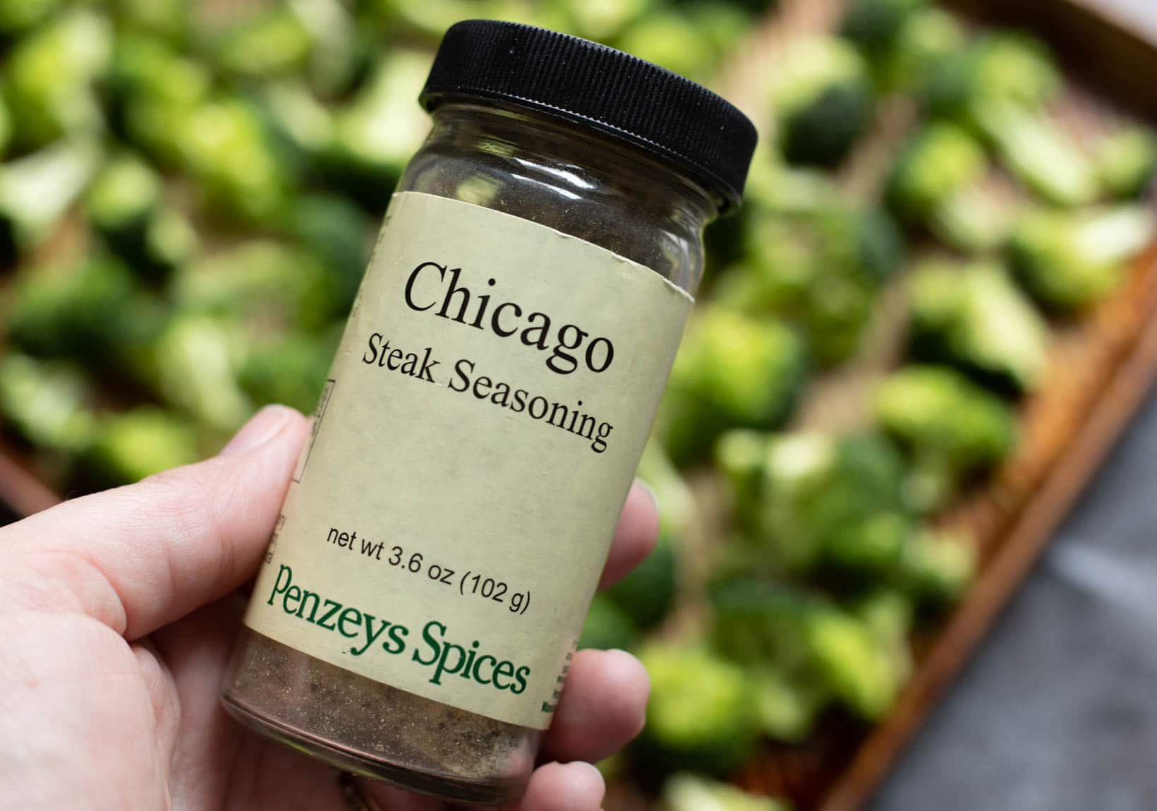 Chicago Steak Seasoning by Penzey's Spices - the perfect seasoning for roasted broccoli